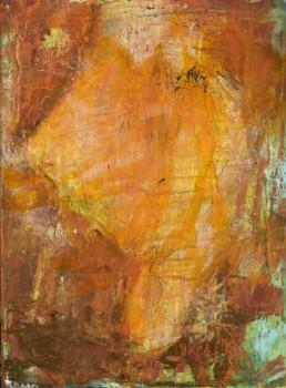 Roni Sherman Ramos oil on linen mounted on wood panel