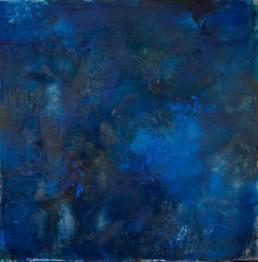 Roni Sherman Ramos, oil on linen - Blue