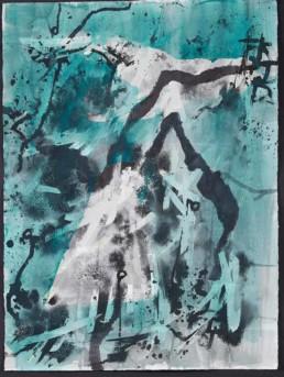 Roni Sherman Ramos, oil on paper - Slopes